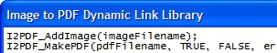 Image to PDF Dynamic Link Library 2.73 screenshot