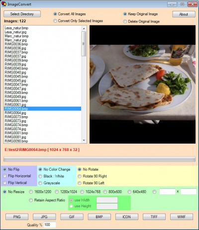 ImageConvert 2.3 screenshot