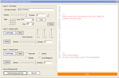 ImageIN for Applications 1.25 screenshot
