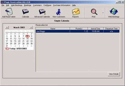 iMagic Reservation Lite 1.1 screenshot