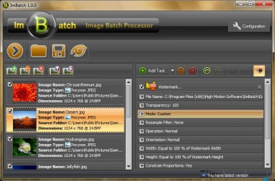 ImBatch 7.3.0 screenshot