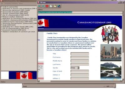 Immigration Forms and assessment softwar 1.0 screenshot