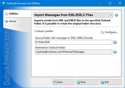 Import Messages from EML/EMLX Files 4.4 screenshot