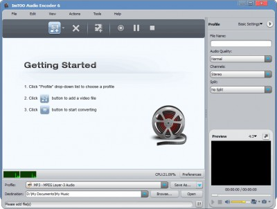 ImTOO Audio Encoder 6.3.0.0805 screenshot