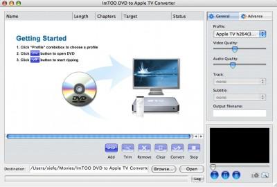 ImTOO DVD to Apple TV Converter for Mac 2 4.7.30.060 screenshot