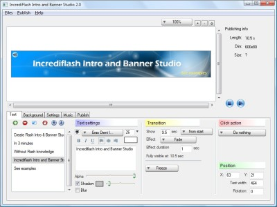 IncrediFlash Intro and Banner Studio 2.04 screenshot