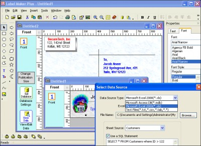 Indentsoft Label Maker Plus 2.2 screenshot