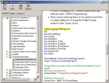 Index Server Companion 2.9 screenshot
