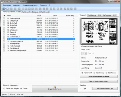 iNetBau PlotManager 7.1.7 screenshot