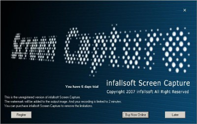 infallsoft Screen Capture 2.64 screenshot