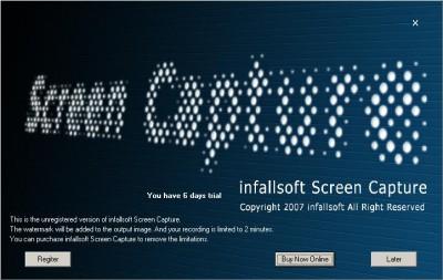 infallsoft Screen Capture 2.64 screenshot