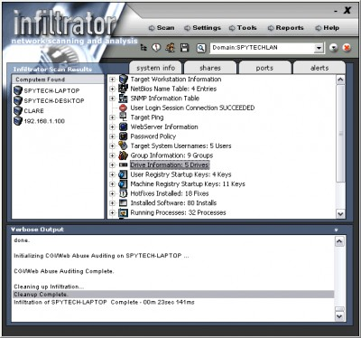 Infiltrator Network Security Scanner 3.0 screenshot