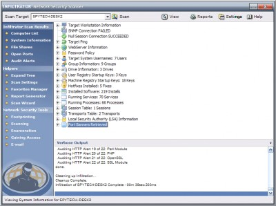 Infiltrator Network Security Scanner 4.6 screenshot
