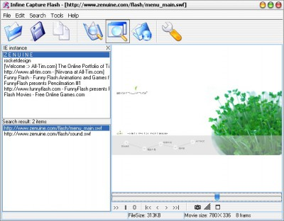 Infine Capture Flash 1.6 screenshot