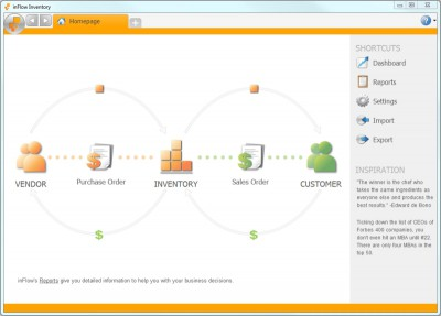 inFlow Inventory Software Free Edition 2.5.1 screenshot