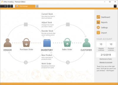 inFlow Inventory Software 3.5.1 screenshot