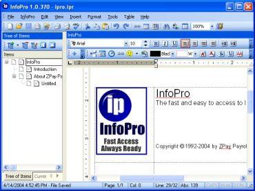 InfoPro 1.2.7 screenshot