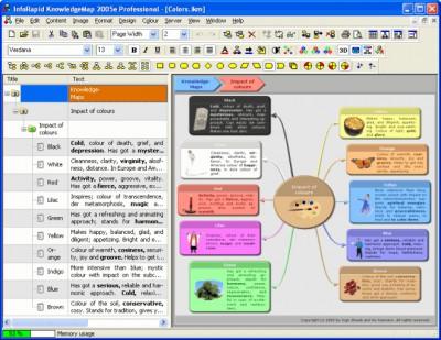 InfoRapid KnowledgeMap 2005e screenshot