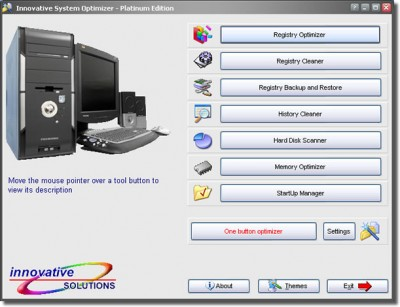 Innovative System Optimizer Platinum Edition 2.2 screenshot
