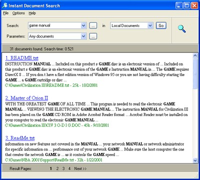 Instant Document Search 1.12.1 screenshot
