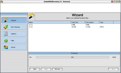 Instant File Recovery 2.1 screenshot