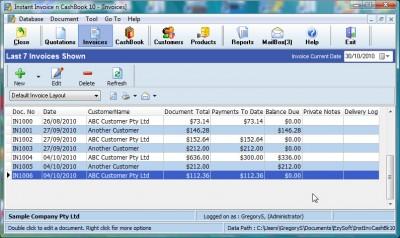 Instant Invoice n Cashbook 10.7.1.18 screenshot