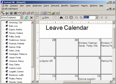 Instant Leave and Attendance Software 3.0 screenshot