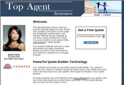 Insurance Agency Website Builder 1.5a screenshot