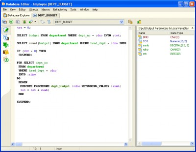 Interbase/Firebird Development Studio 5.0 screenshot