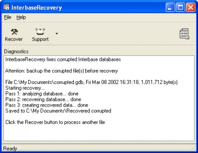 InterbaseRecovery 1.6.0818 screenshot