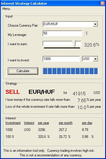 Interest Strategy Calculator 1 screenshot