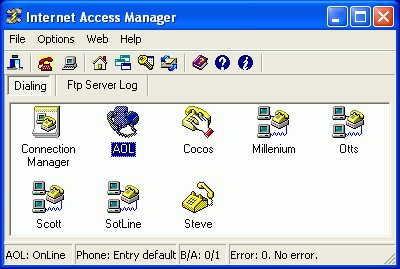 Internet Access Manager 1.22 screenshot