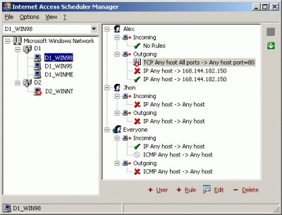Internet Access Scheduler 2.0 screenshot