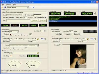 Internet Broadcasting Server - Free Ed. 2.0.3 screenshot