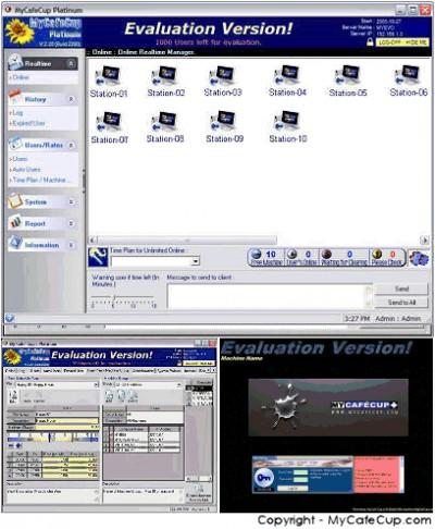 INTERNET CAFE SOFTWARE MyCafeCup WiFi 2.2289 screenshot