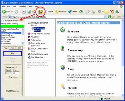 Internet Macros Web Recorder 4.02 screenshot