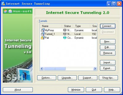Internet Secure Tunneling 2.0.0.244 screenshot
