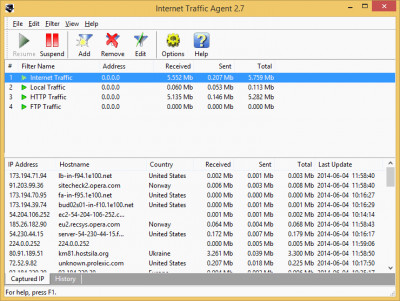 Internet Traffic Agent 2.9 screenshot