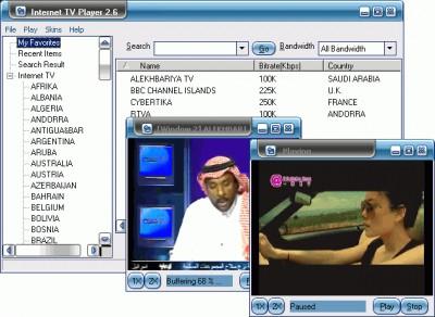 Internet TV Player 2.6 screenshot