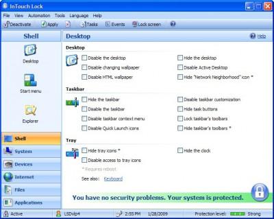 InTouch Lock 3.7 screenshot
