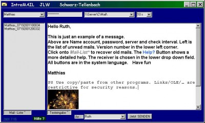 IntraMail 2003.01.20 screenshot