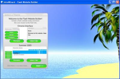 IntroWizard Flash Website Builder 1.0 screenshot