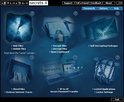 Invisible Secrets Encryption Software 4.7 screenshot