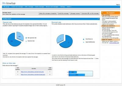 inwise Desktop free newsletter software 1.3 screenshot