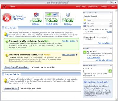 iolo Firewall 1.5.1.3 screenshot