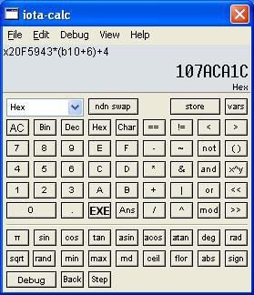 iota-calc 1.8.6 screenshot