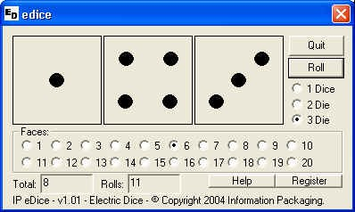 IP Electronic Dice 1.02 screenshot