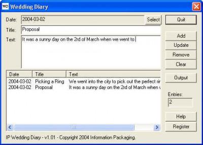 IP Wedding Diary 1.01 screenshot