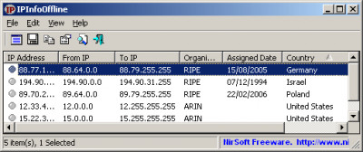 IPInfoOffline 1.55 screenshot