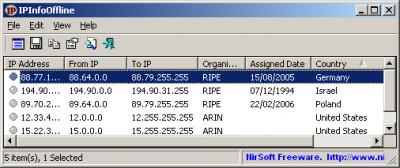 IPInfoOffline 1.55 screenshot